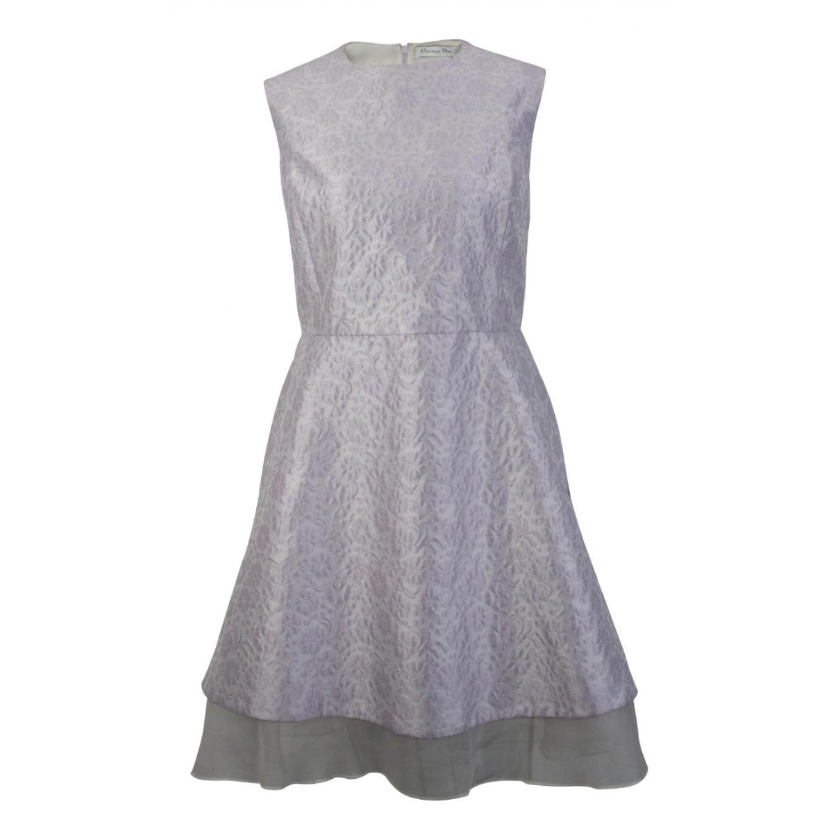 Christian Dior \N Kleid in  Weiss Seide