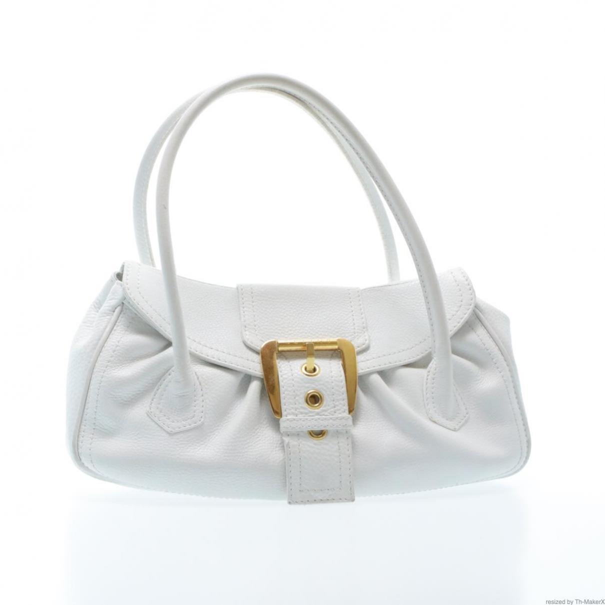 Celine \N Handtasche in  Weiss Leder