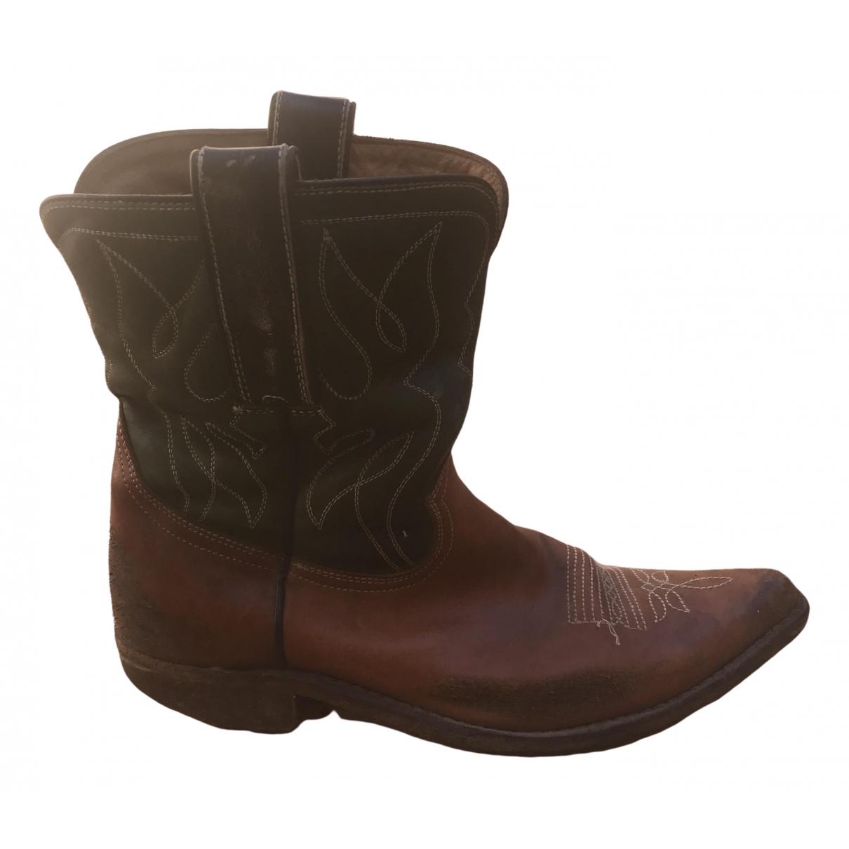 Golden Goose - Boots   pour femme en cuir