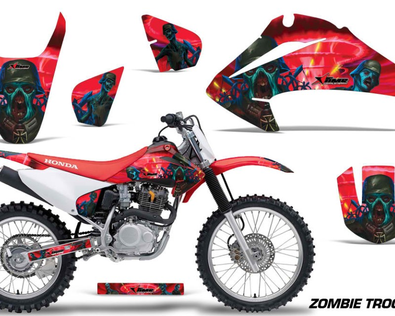 AMR Racing Dirt Bike Graphics Kit Decal Wrap For Honda CRF150 | CRF230F 2003-2007áZOMBIE RED