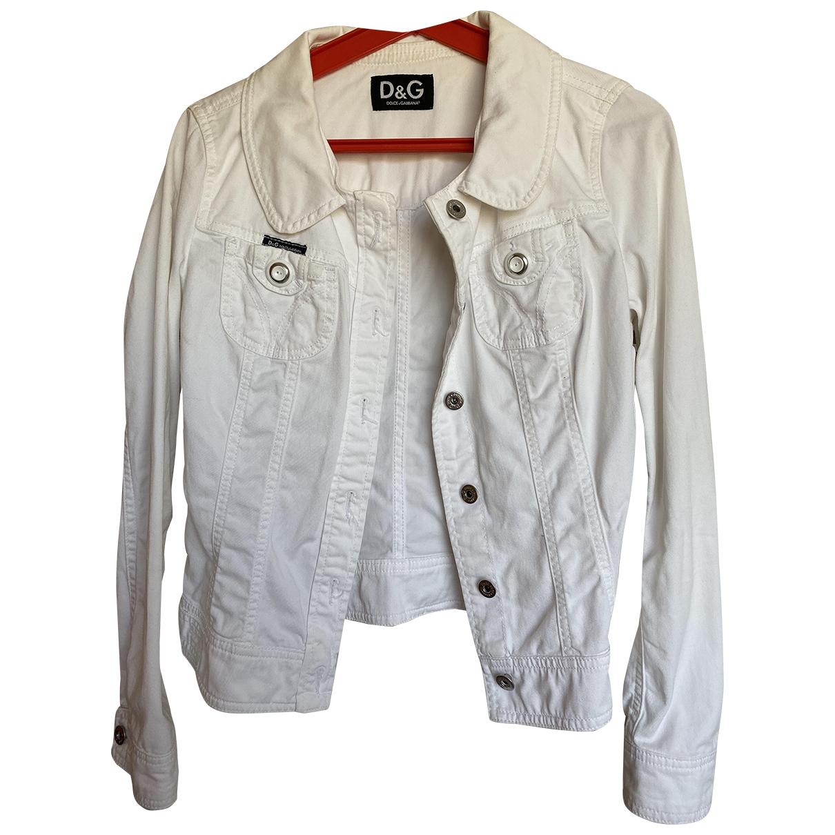 D&g - Blouson   pour femme en coton - blanc