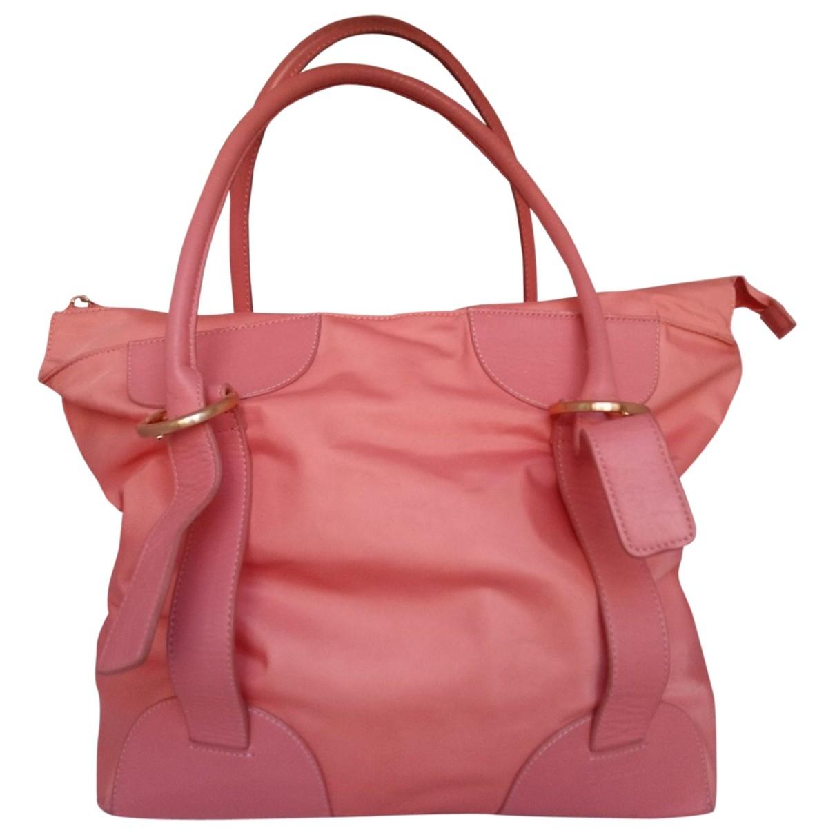 Furla \N Handtasche in  Rosa Leinen