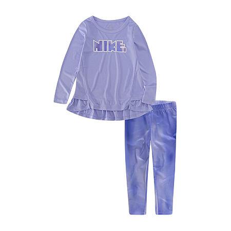 Nike Toddler Girls 2-pc. Legging Set, 2t , Gray