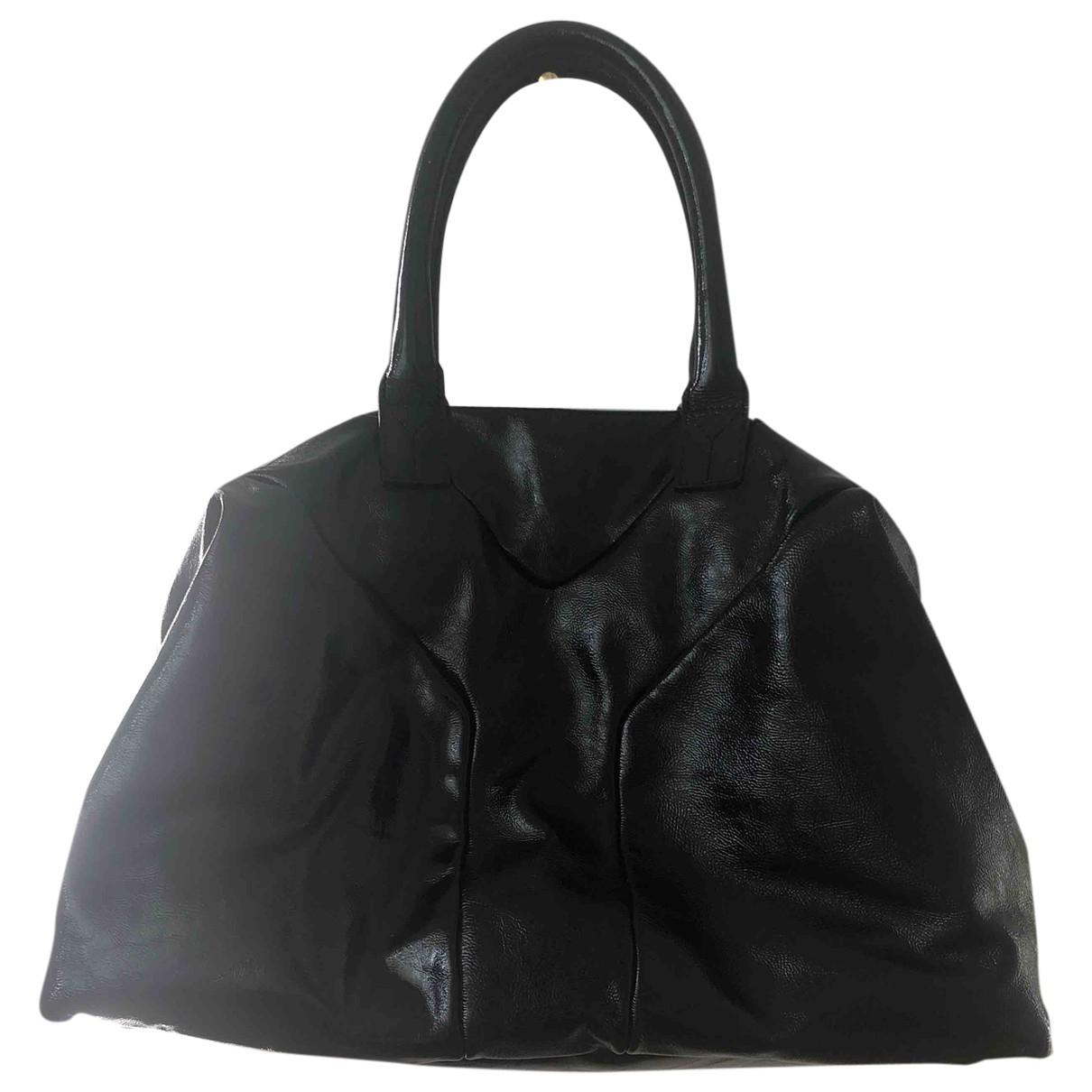 Yves Saint Laurent Easy Black Patent leather handbag for Women \N