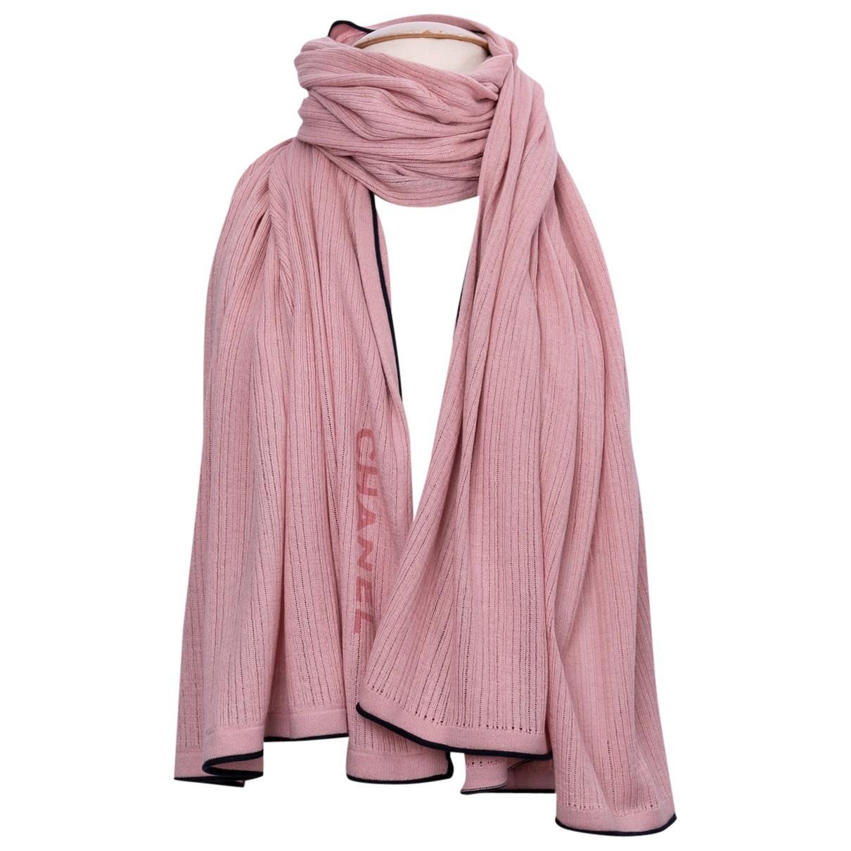Chanel \N Schal in  Rosa Kaschmir