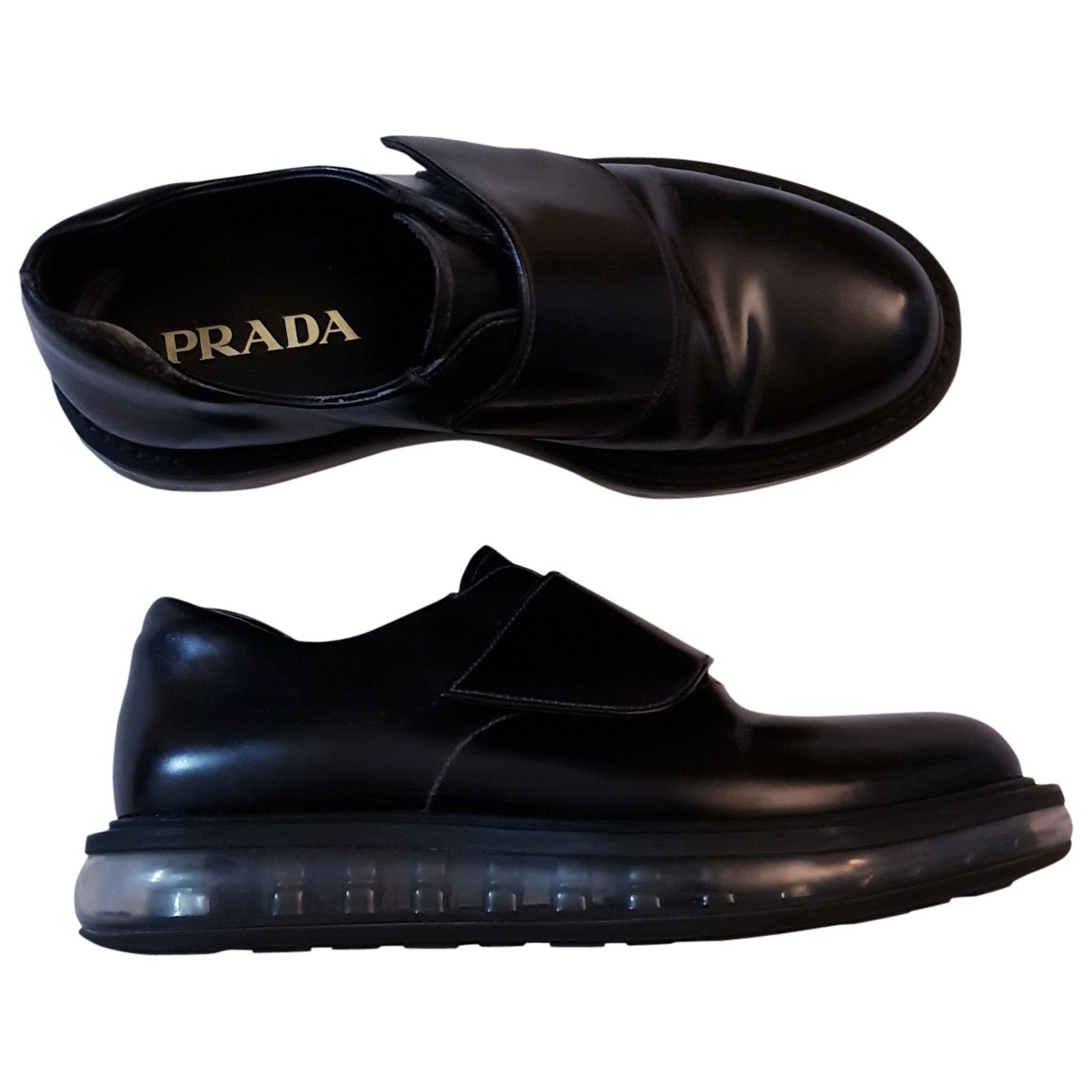 Prada \N Black Leather Lace ups for Men 5.5 UK