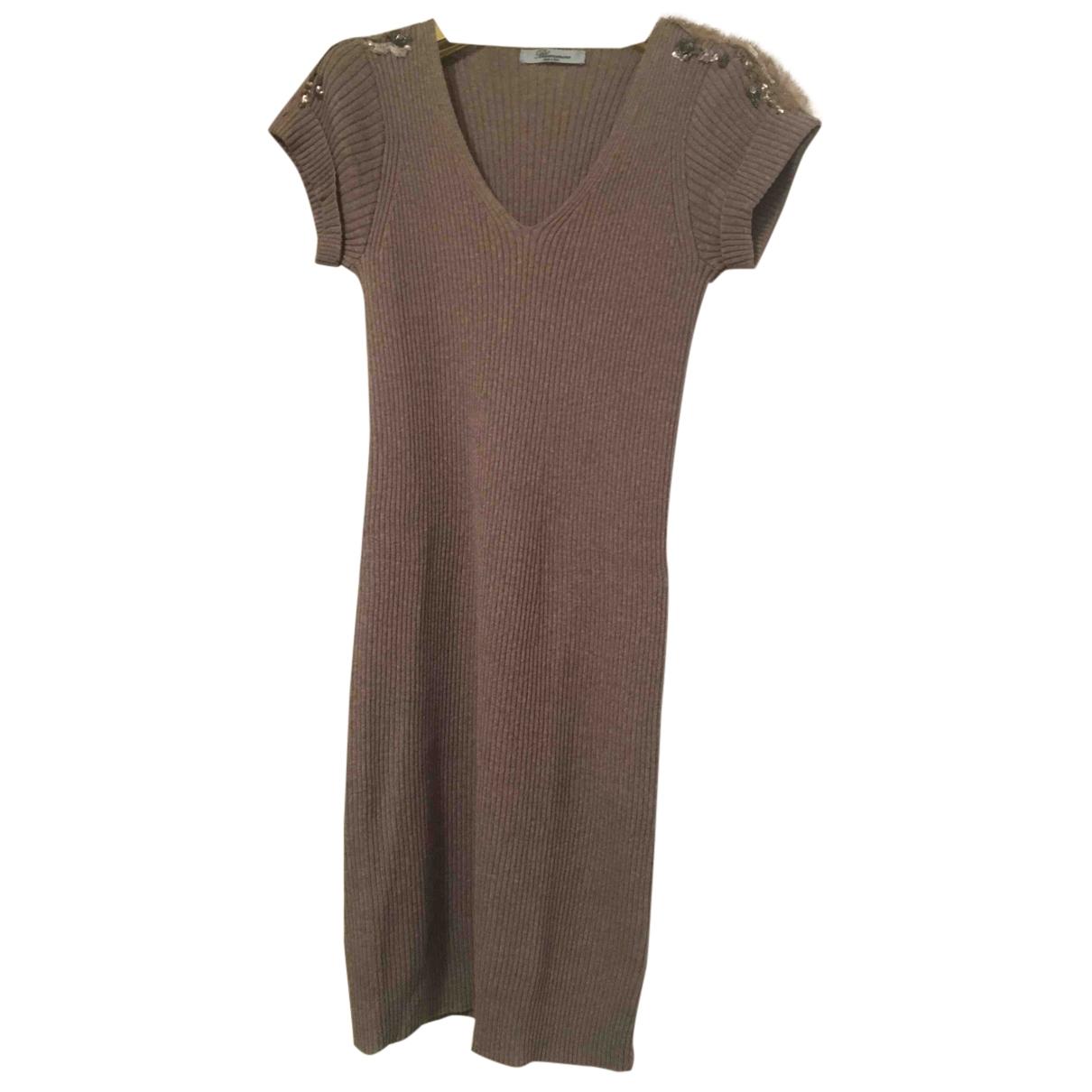 Blumarine \N Kleid in  Khaki Wolle