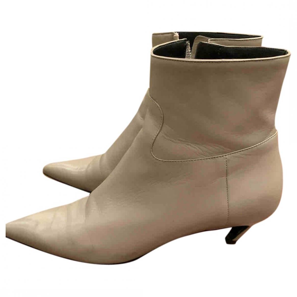 Balenciaga \N Grey Leather Boots for Women 39 EU