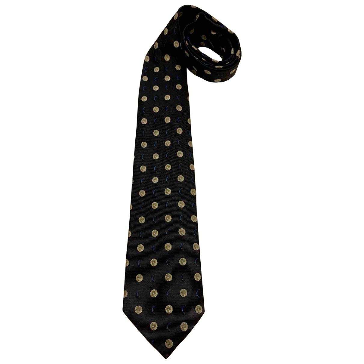 Alfred Dunhill - Cravates   pour homme en soie - marine