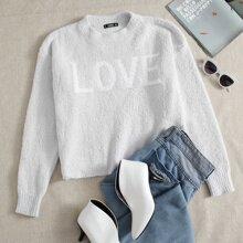 Pullover mit Buchstaben Muster