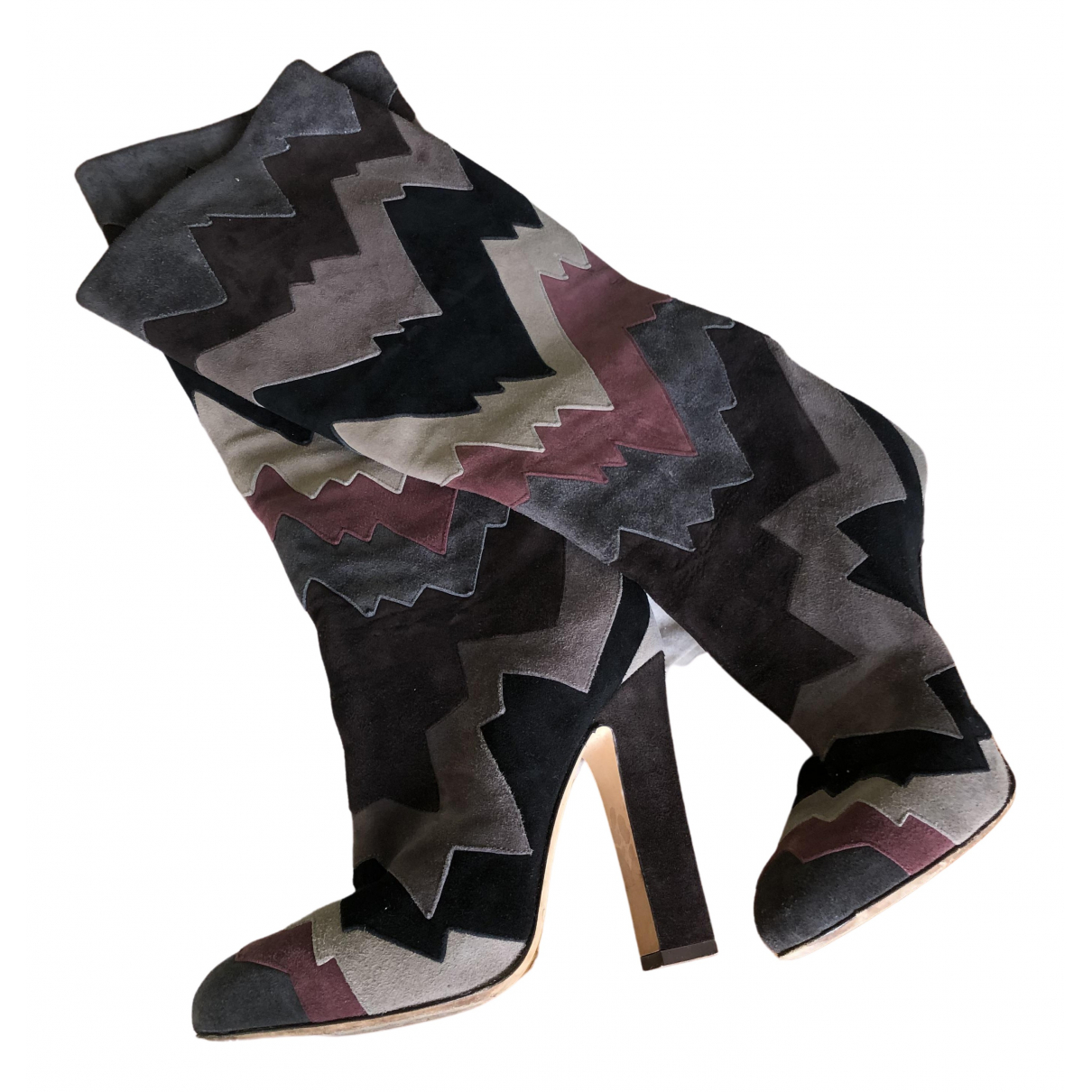 Jimmy Choo N Multicolour Suede Boots for Women 36 EU