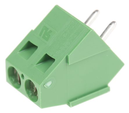 TE Connectivity , Buchanan 5.08mm Pitch, 2 Way PCB Terminal Strip, Green