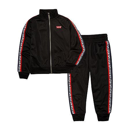 Levi's Baby Boys 2-pc. Logo Track Suit, 9 Months , Black