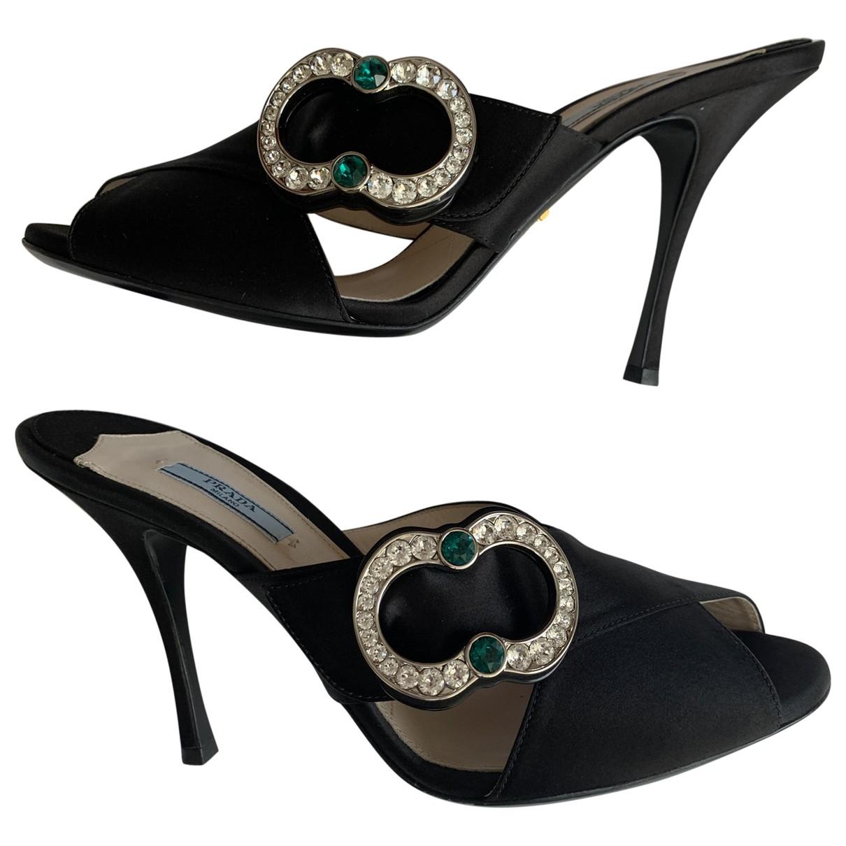 Prada \N Black Cloth Sandals for Women 41 EU