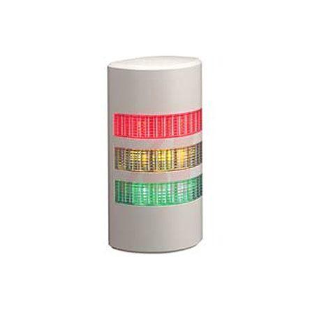 Patlite WEP Incandescent Beacon, Amber, Green, Red LED, Flashing Light Effect, 24 V ac/dc