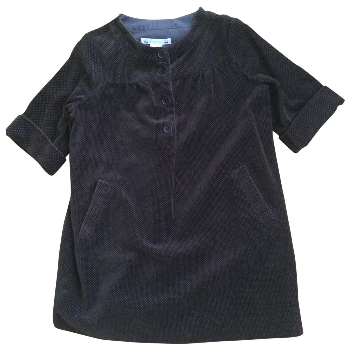 Bonpoint - Robe    pour enfant en coton - marron