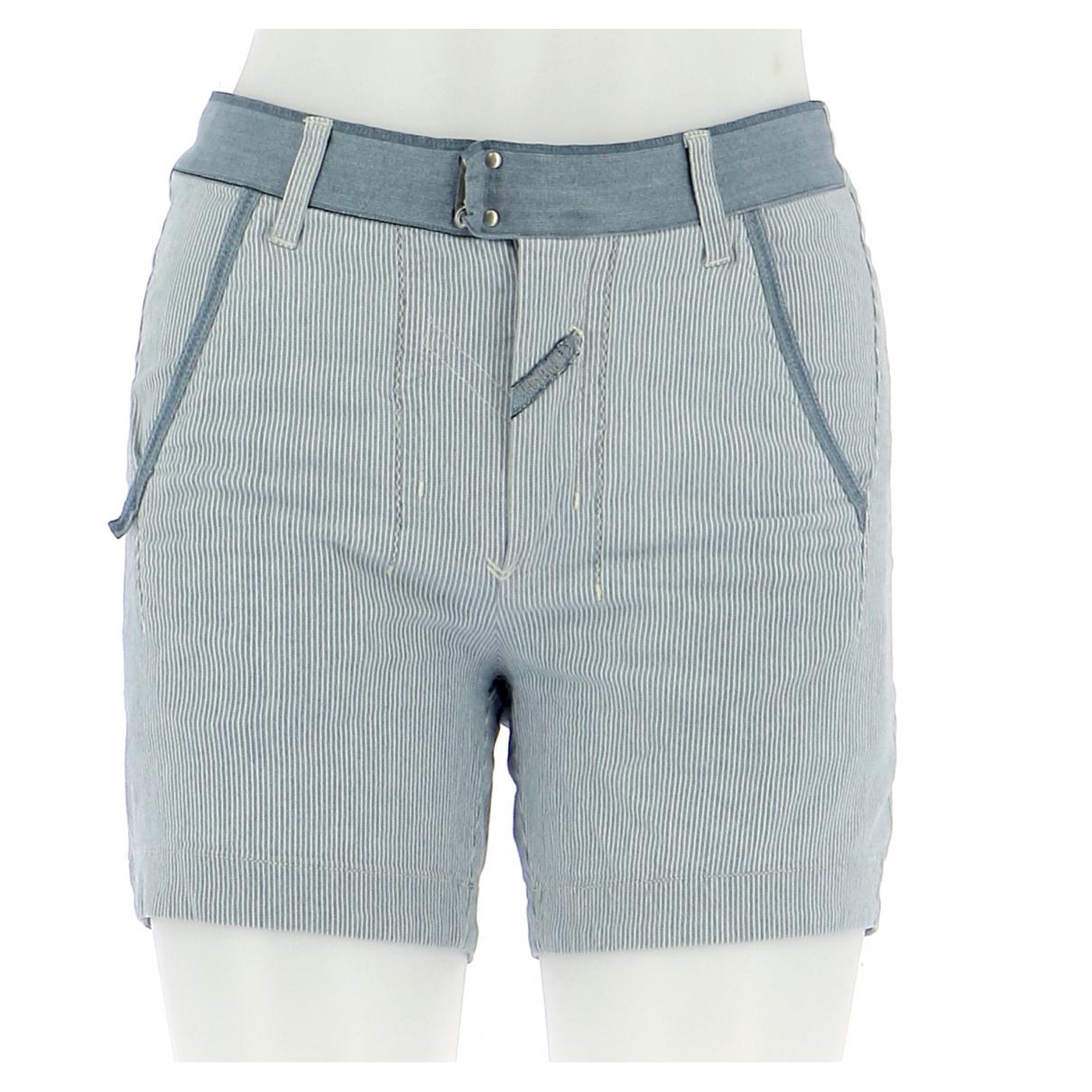Autre Marque N Blue Cotton Shorts for Women 36 FR
