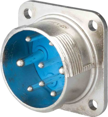 Jaeger 6 Way Panel Mount MIL Spec Circular Connector Receptacle, Socket Contacts,Shell Size 1, MIL-DTL-5015