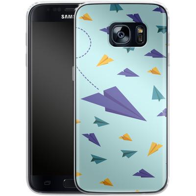 Samsung Galaxy S7 Silikon Handyhuelle - Paper Planes von caseable Designs
