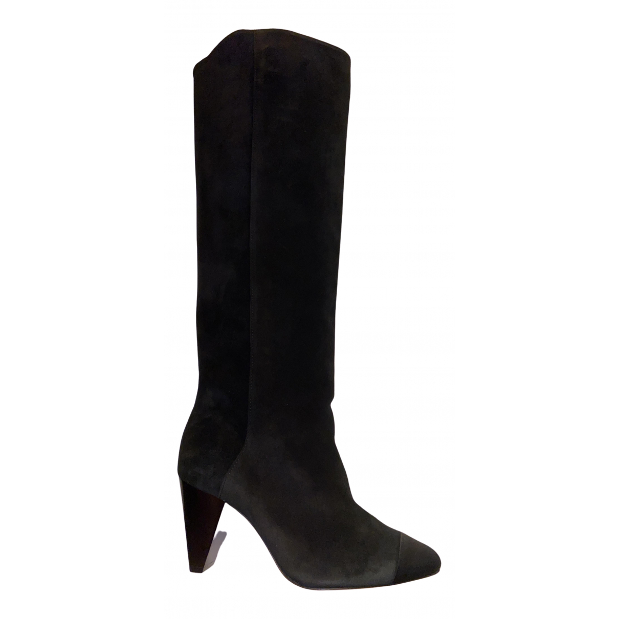 Sandro N Black Suede Boots for Women 37 EU