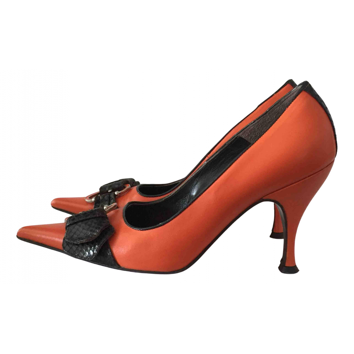 D&g \N Pumps in  Orange Leder