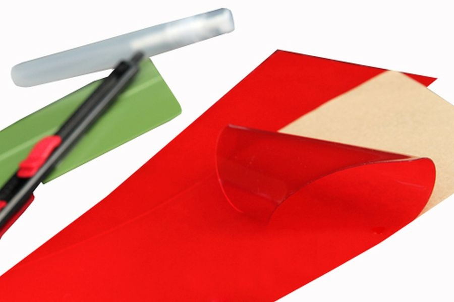 Two 24 x 32 Red Universal Film Covers Lamin-X 2-2432R