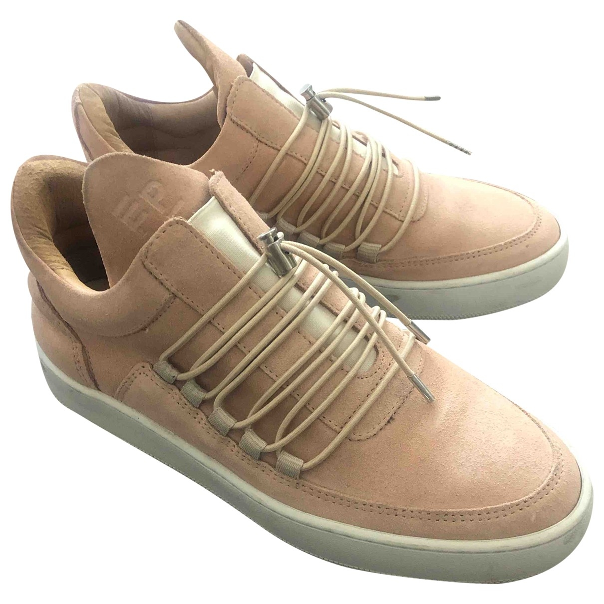 Filling Pieces \N Pink Suede Trainers for Women 39 EU