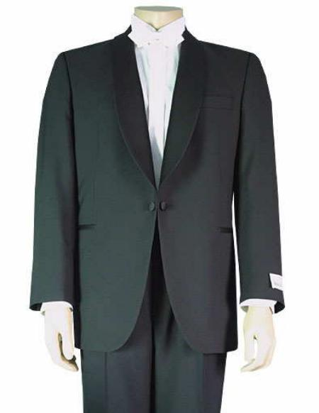 1 Button Shawl Collar Single Breasted Tuxedo Jacket Single Button