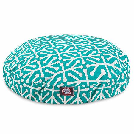 Majestic Pet Aruba Round Pet Bed, One Size , Blue