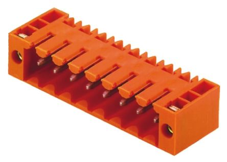 Weidmüller , OMNIMATE SL, 7 Way, 1 Row, Right Angle PCB Header (5)