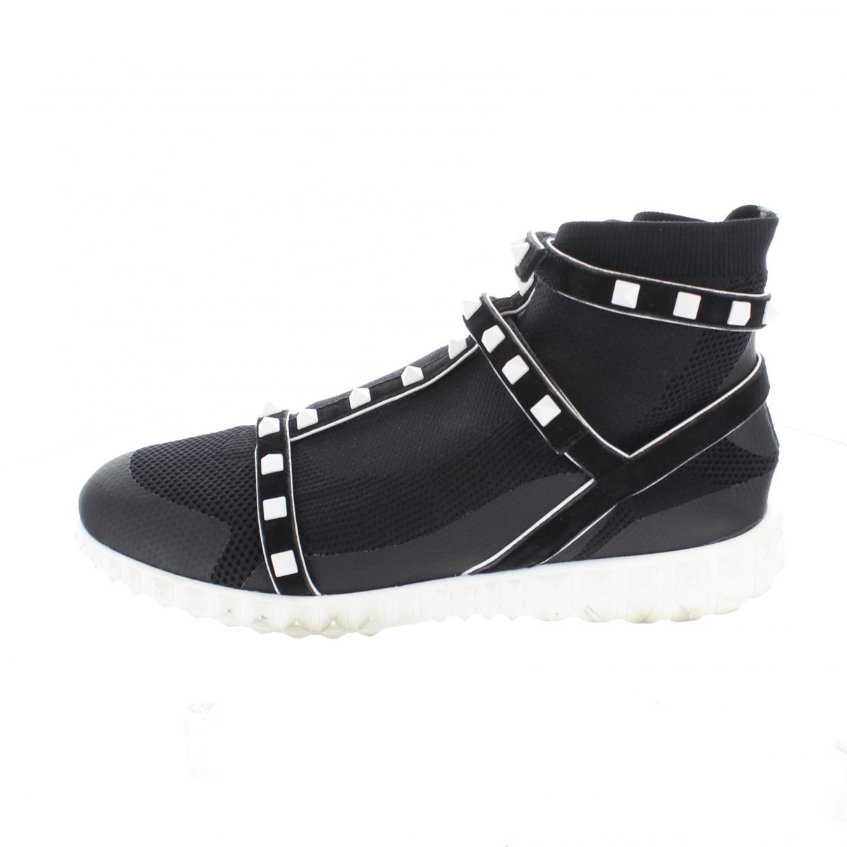 Valentino Garavani \N Sneakers in  Schwarz Leinen