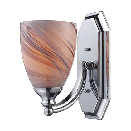570-1C-CR 1 Light Vanity in Polished Chrome and Creme