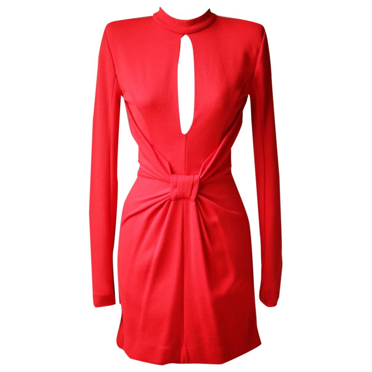 Balmain N Red Wool dress for Women 36 FR
