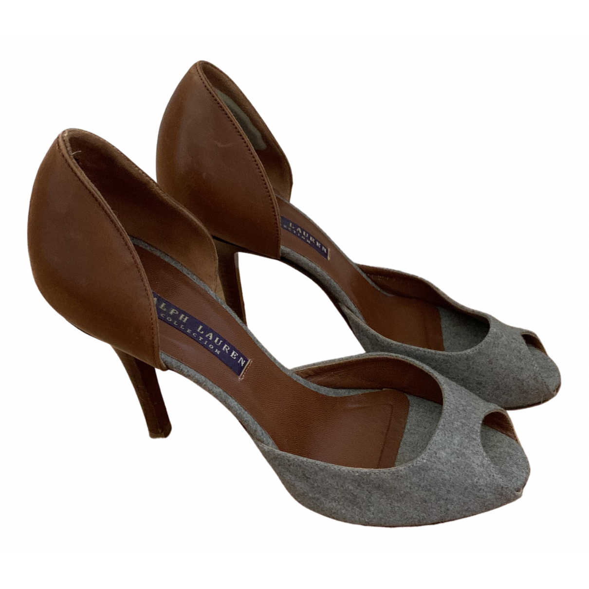 Ralph Lauren \N Grey Leather Heels for Women 7 US