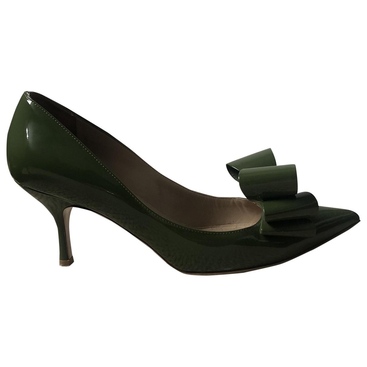 Valentino Garavani - Escarpins   pour femme en cuir - vert