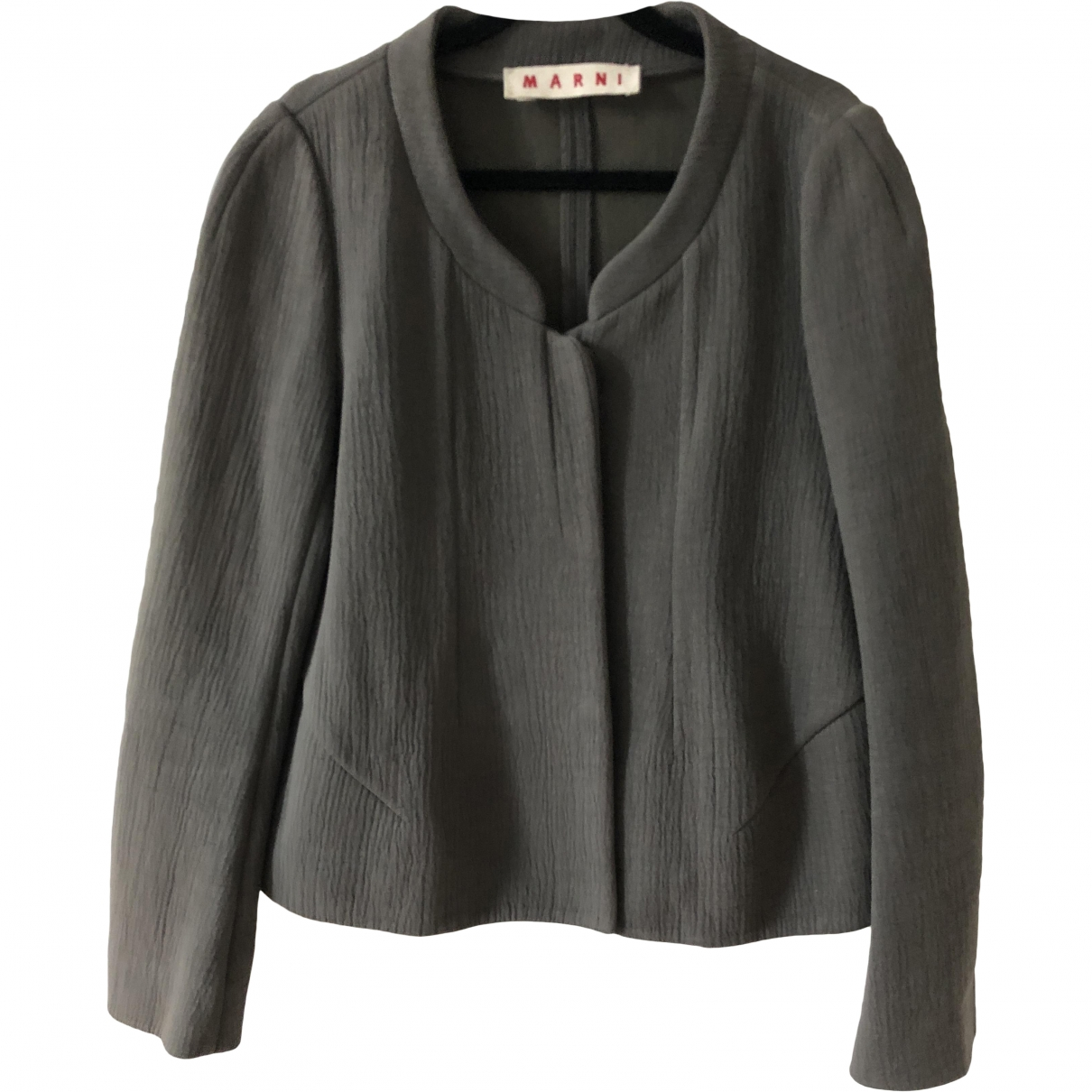 Marni \N Jacke in  Khaki Polyester