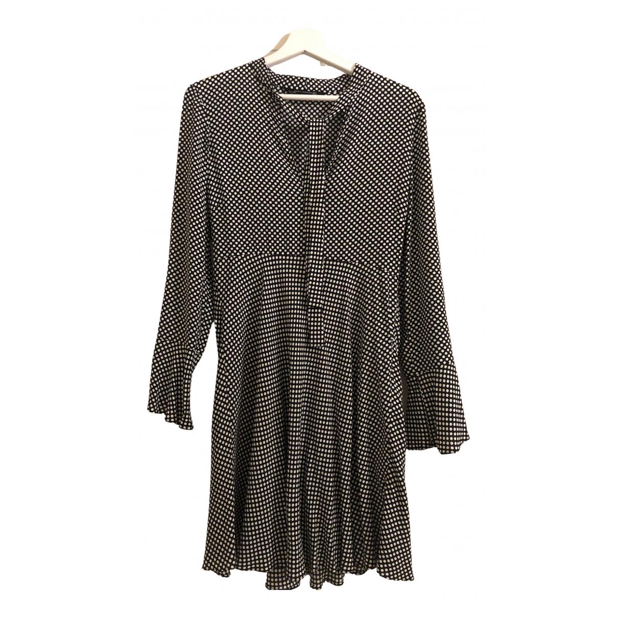 Zara \N Kleid in  Schwarz Viskose