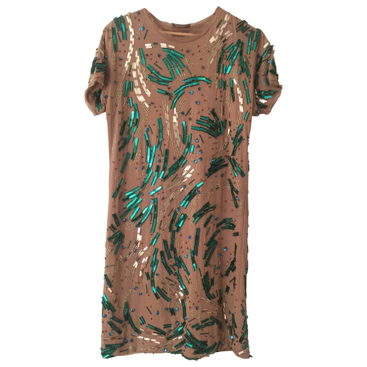 Lanvin \N Kleid in  Beige Baumwolle