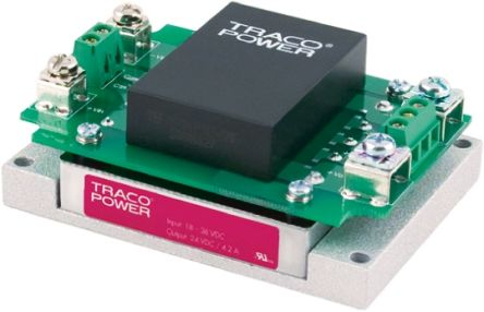 TRACOPOWER TEP 200WIR 180 → 240W Isolated DC-DC Converter Chassis Mount, Voltage in 43 → 160 V dc,