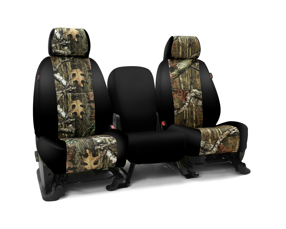Coverking CSC2MO02FD7419 Skanda Custom Seat Covers 1 Row Neosupreme Mossy Oak Break Up Infinity with Black Sides Front Ford F-150 2005-2008