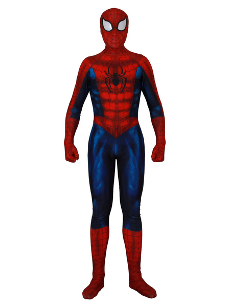 Milanoo Marvel Comics Spider Man Cosplay Muscle Red Film Lycra Spandex Jumpsuit Leotard Marvel Comics