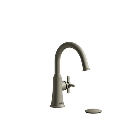 Momenti MMRDS01+BN-05 Single Hole Lavatory Faucet with + Cross Handle 0.5 GPM  in Brushed