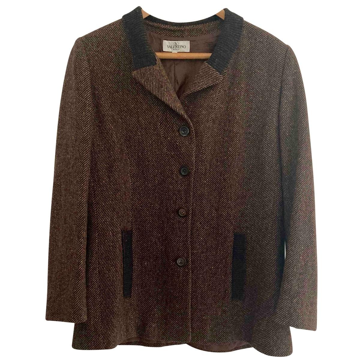 Valentino Garavani - Veste   pour femme en laine - marron