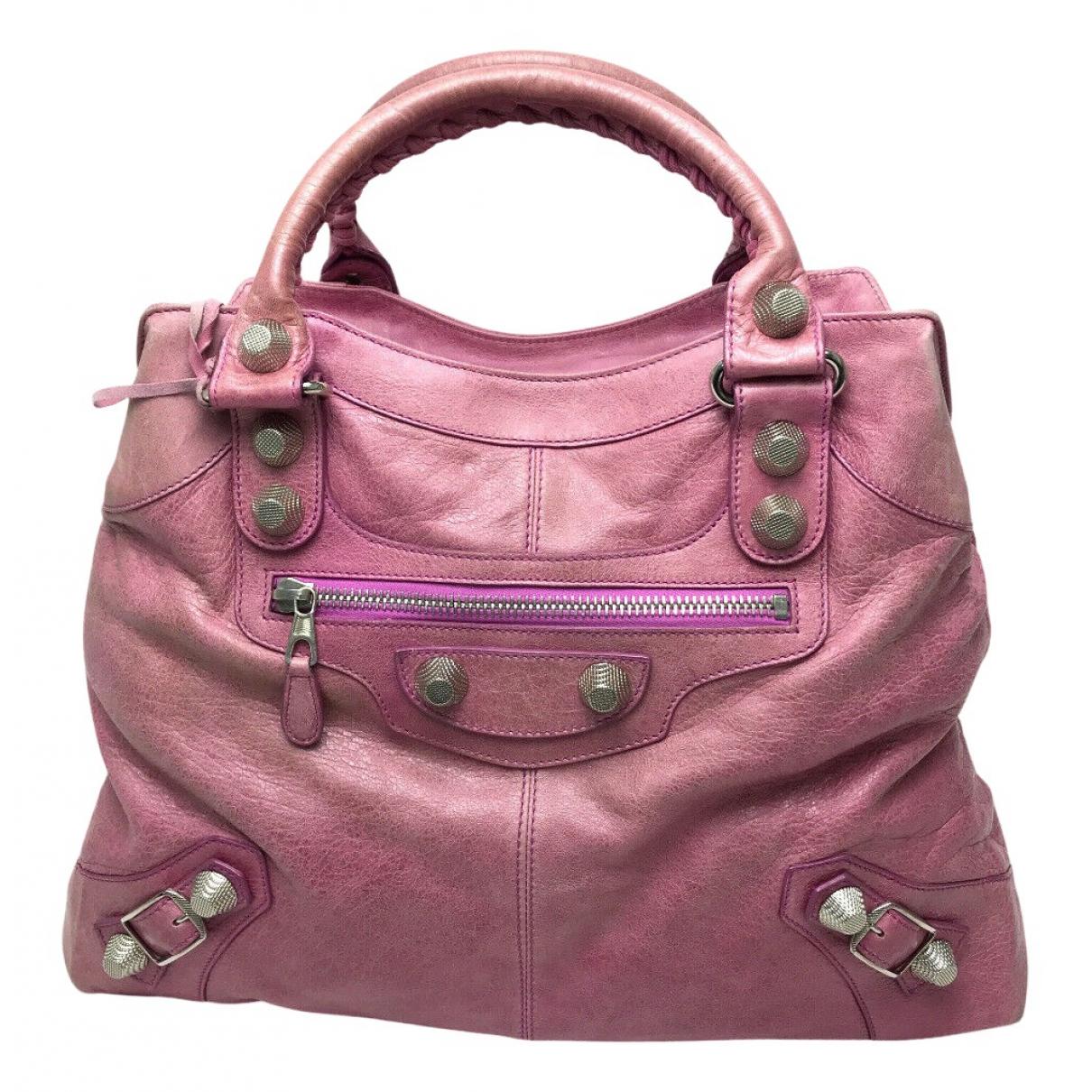 Balenciaga - Sac a main   pour femme en cuir - rose