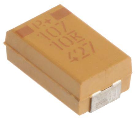 KEMET Tantalum Capacitor 100μF 10V dc MnO2 Solid ±10% Tolerance , T495 (10)