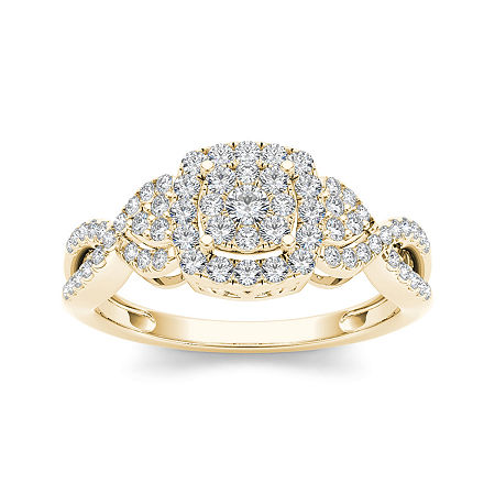 1/2 CT. T.W. Diamond 10K Yellow Gold Engagement Ring, 7 1/2 , No Color Family