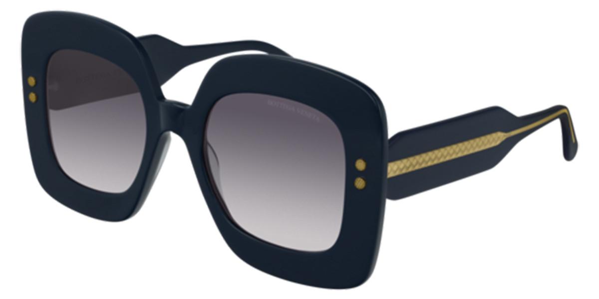 Bottega Veneta BV0237S 004 Women's Sunglasses Blue Size 50