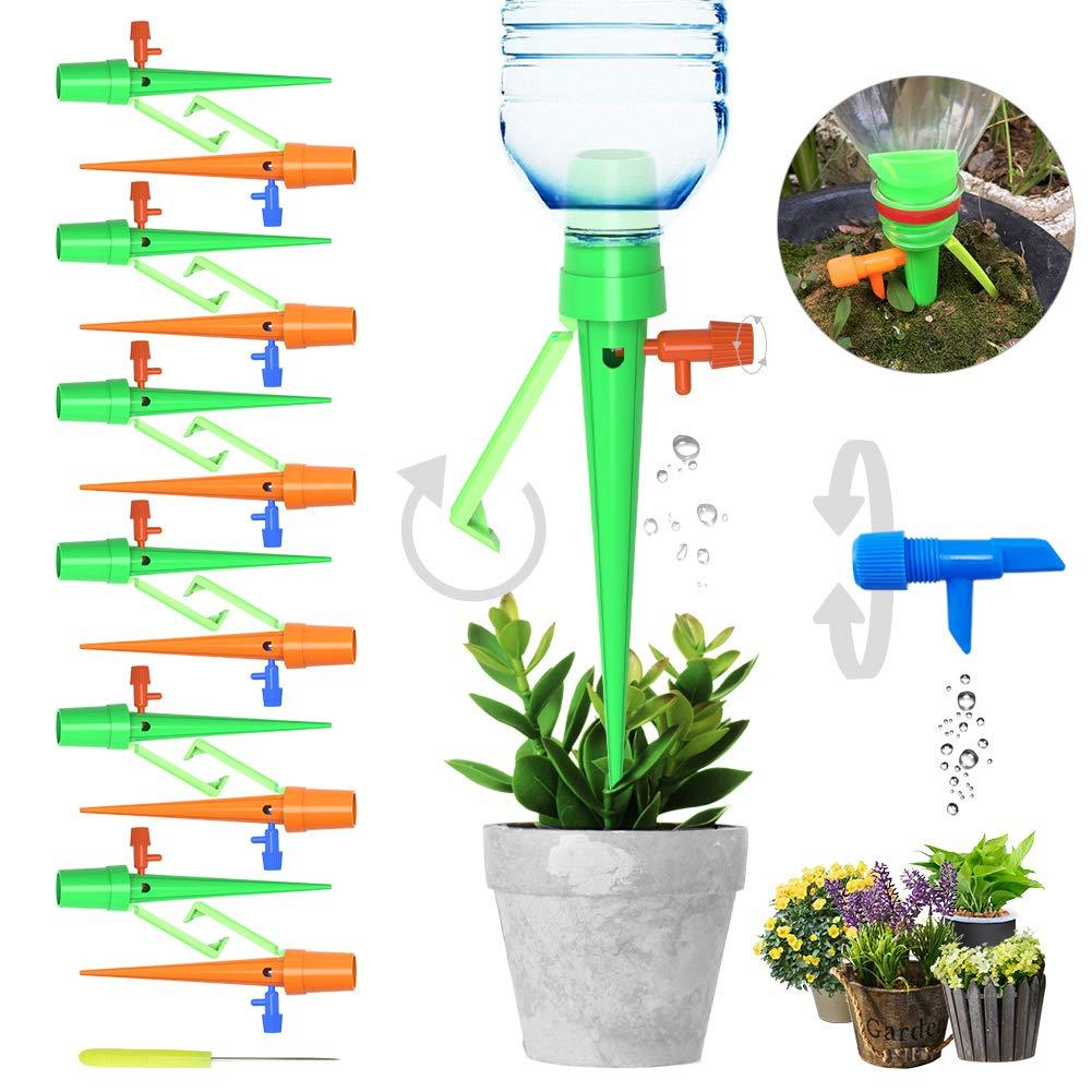 6Pcs/12Pcs Upgraded Automatic Watering Device Adjustable Water Flow Dripper With Switch Control Valve Bracket Design DIY