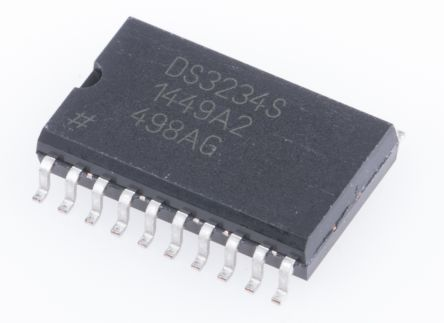 Maxim Integrated DS3234S#, Real Time Clock (RTC), 256B RAM Serial-SPI, 20-Pin SOIC (36)