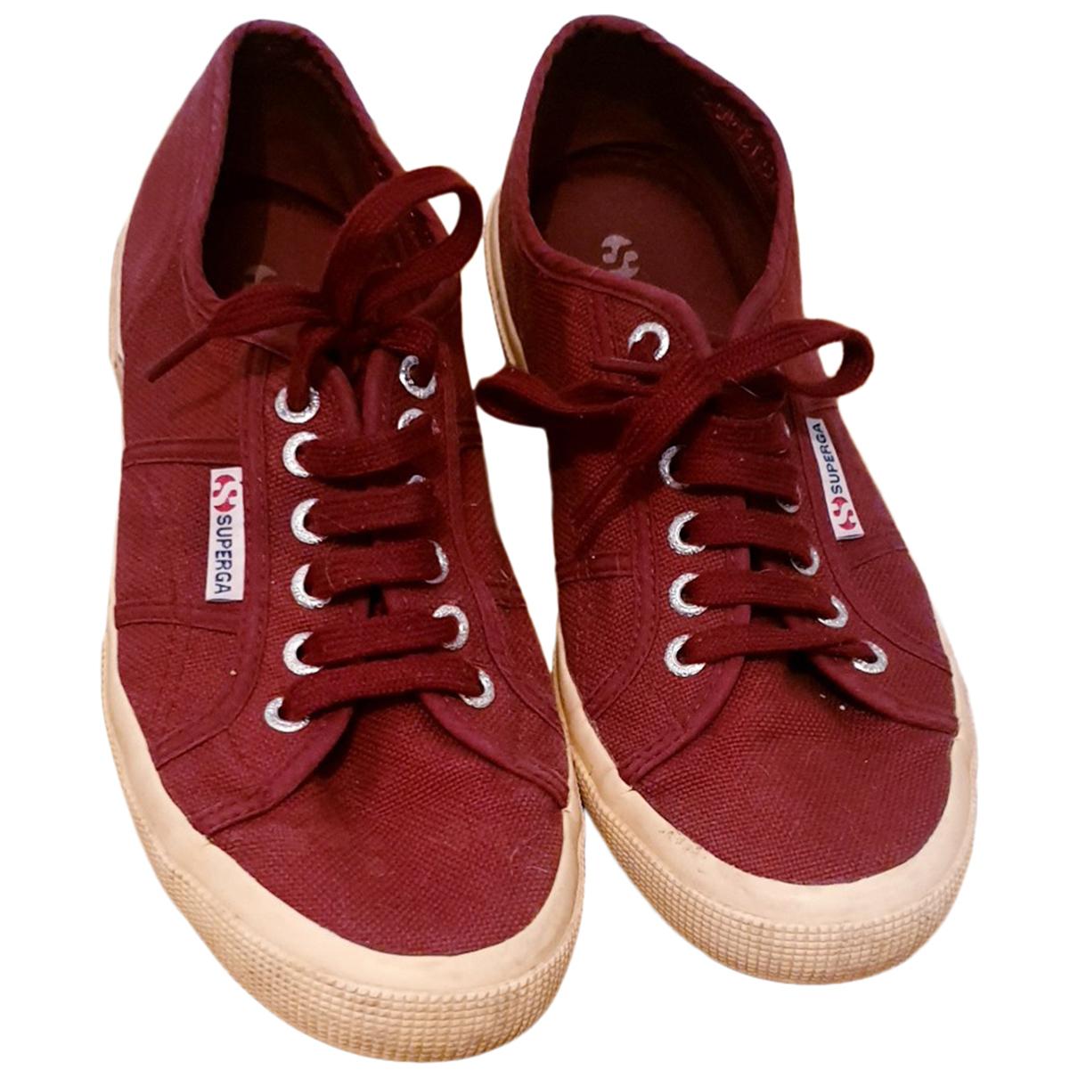 Superga \N Sneakers in  Bordeauxrot Leinen
